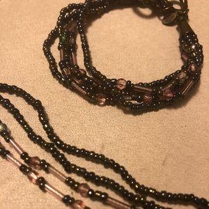 Premier Designs Multi-Strand Neckace & Bracelet